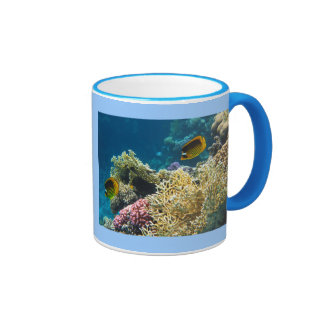 Yellow and Black Butterfly Fish Coffee Mugs