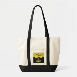 Yellow and Black Chandelier Print Sweet Sixteen Impulse Tote Bag