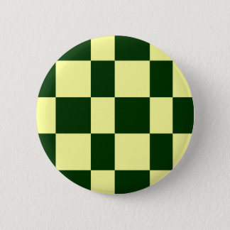 yellow and black checkerboards 2 inch round button