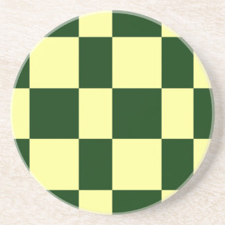 yellow and black checkerboards coaster