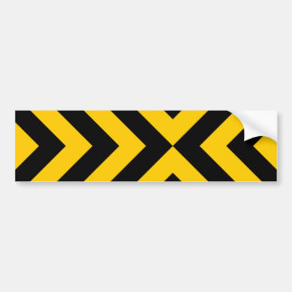 Yellow and Black Chevrons Bumper Sticker