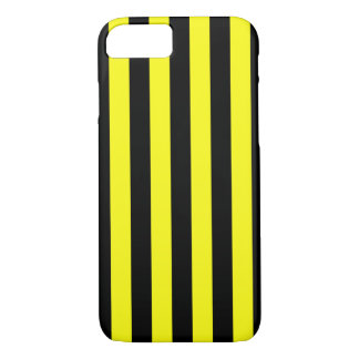 Yellow and Black Coloured striped pattern Case-Mate iPhone Case