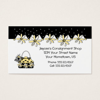Yellow and Black Daisies Shopping Business Card