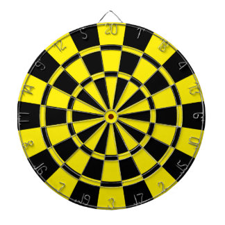 Yellow And Black Dartboard