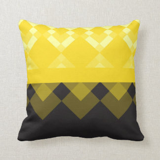 Yellow and Black Design Throw Pillow