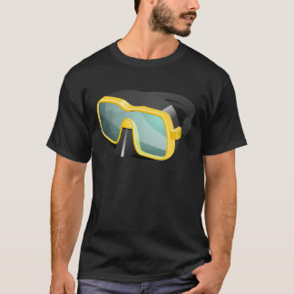 Yellow and Black Diving/Scuba/Snorkeling Mask T-Shirt