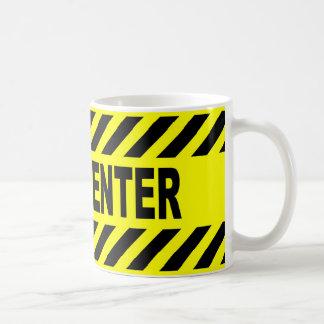 Yellow And Black Do Not Enter Sign Coffee Mug