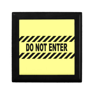 Yellow And Black Do Not Enter Sign Gift Box