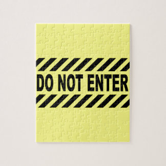 Yellow And Black Do Not Enter Sign Jigsaw Puzzle