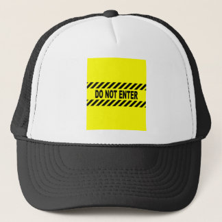 Yellow And Black Do Not Enter Sign Trucker Hat
