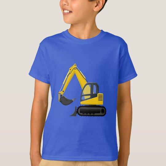 Yellow and Black Excavator Construction Machine T-Shirt