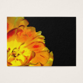 Yellow and Black Floral Business Card