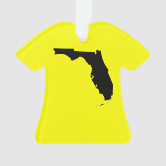 Yellow and Black Florida Ornament