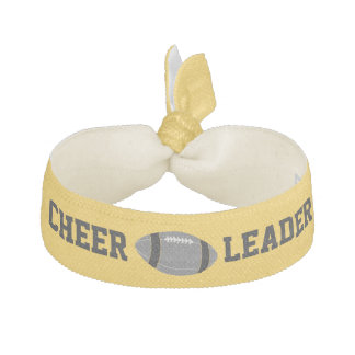 Yellow and Black Football Cheerleader's Head Band Hair Tie