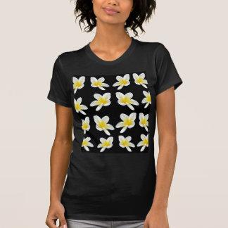 Yellow And Black Frangipani Pattern, T-Shirt