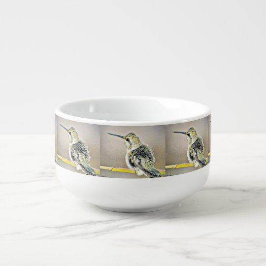 Yellow and Black Hummer Soup Bowl Soup Bowl With Handle