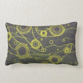Yellow and Black Lumbar Pillow