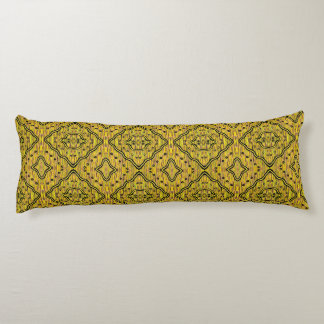 Yellow And Black Modern Abstract Pattern Body Pillow