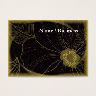 Yellow and black modern card