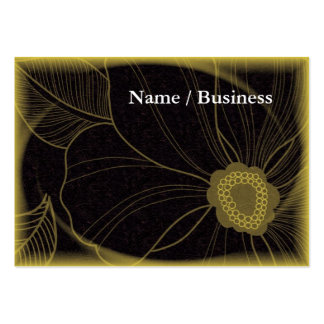 Yellow and black modern card large business card
