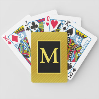 Yellow and Black Monogrammed Playing Cards