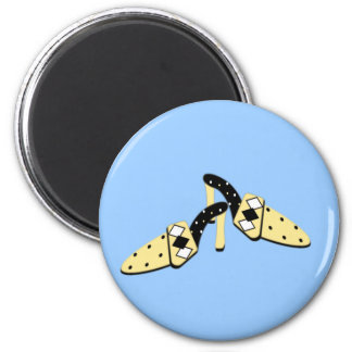 Yellow and Black Mules Magnet