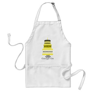 Yellow and Black Party Cake Standard Apron