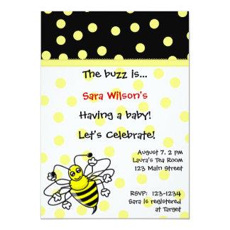 Yellow and Black Shower Invitation