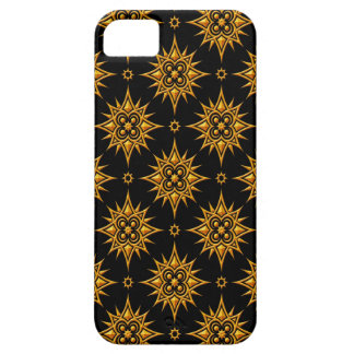 Yellow and Black Star Pattern iPhone 5 Covers