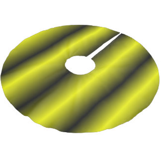 Yellow and Black Stripe Bumblebee Design Brushed Polyester Tree Skirt