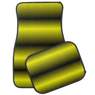 Yellow and Black Stripe Bumblebee Design Car Mat