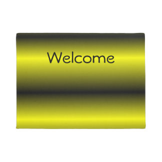 Yellow and Black Stripe Bumblebee Design Doormat