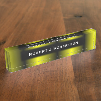 Yellow and Black Stripe Bumblebee Design Name Plate