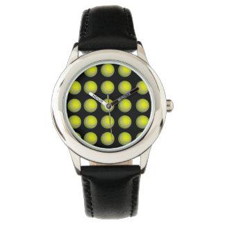 Yellow And Black Tennis Ball Pattern, Watch