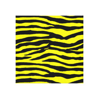 Yellow and Black Tiger Stripes Canvas Print