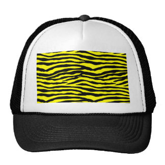 Yellow and Black Tiger Stripes Trucker Hat