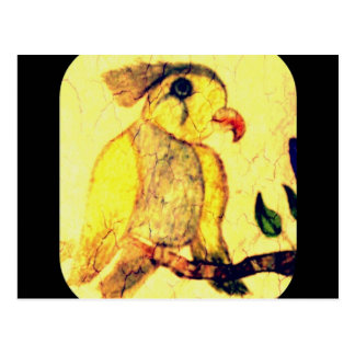 Yellow And Black Vintage Bird Postcard