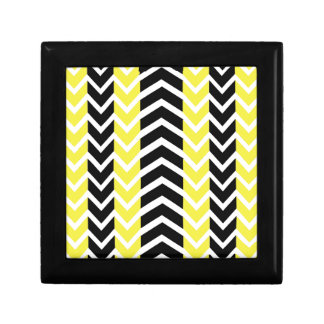 Yellow and Black Whale Chevron Gift Box