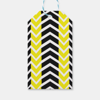 Yellow and Black Whale Chevron Gift Tags