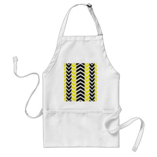 Yellow and Black Whale Chevron Standard Apron