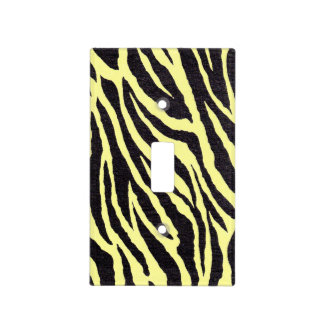 Yellow and black Zebra stripes Light Switch Cover