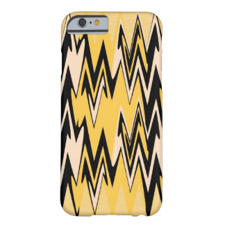 Yellow and Black Zigzag Abstract Chevron Barely There iPhone 6 Case