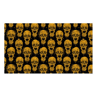 Yellow and Black Zombie Apocalypse Pattern Business Cards