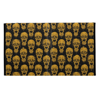 Yellow and Black Zombie Apocalypse Pattern iPad Folio Case