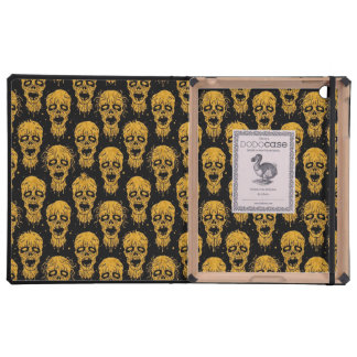 Yellow and Black Zombie Apocalypse Pattern Cover For iPad