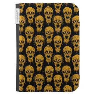 Yellow and Black Zombie Apocalypse Pattern Kindle 3G Case