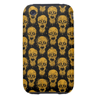 Yellow and Black Zombie Apocalypse Pattern iPhone 3 Tough Covers