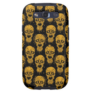 Yellow and Black Zombie Apocalypse Pattern Galaxy SIII Cover
