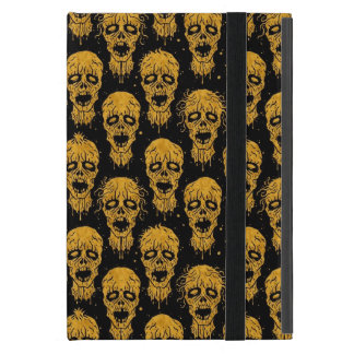 Yellow and Black Zombie Apocalypse Pattern Cover For iPad Mini