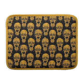 Yellow and Black Zombie Apocalypse Pattern MacBook Sleeves